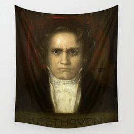 Ludwig van Beethoven (1770-1827) by Franz von Stuck (1863 - 1928)(2) Wall Tapestry
