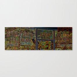 Soda Shop Canvas Print