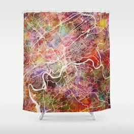 Knoxville map Shower Curtain