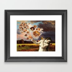 Putti Attack Framed Art Print