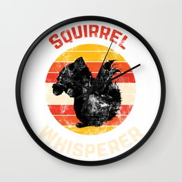 Cute Animal Retro Squirrels Wall Clock