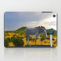 fitness iPad Cases featuring Fitness Zebra by Bemular