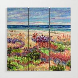 Winter Dunes, Barnegat Light, Long Beach Island, New Jersey Wood Wall Art