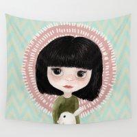 mini Wall Tapestries featuring Mini me by Marta Li