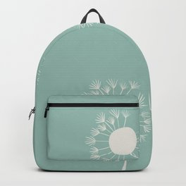 Pale dandelions and flying seeds Backpack