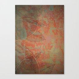 LeafWall  Crispy Mint Canvas Print