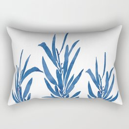 Eucalyptus Branches Blue Rectangular Pillow