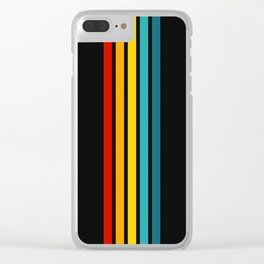 Colorful Trendy Lines Black Clear iPhone Case