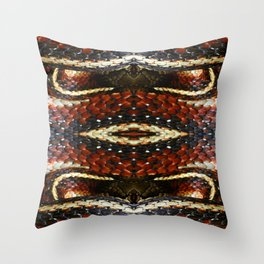 Red Striped Snake Throw Pillow