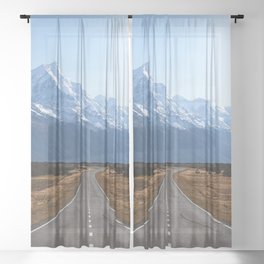 Road in new zealand Sheer Curtain