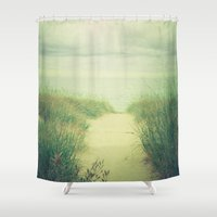 finding nemo Shower Curtains featuring Finding Calm by Olivia Joy St.Claire - Modern Nature / T