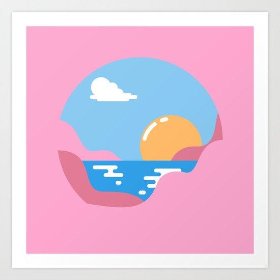 Our Sunset Art Print