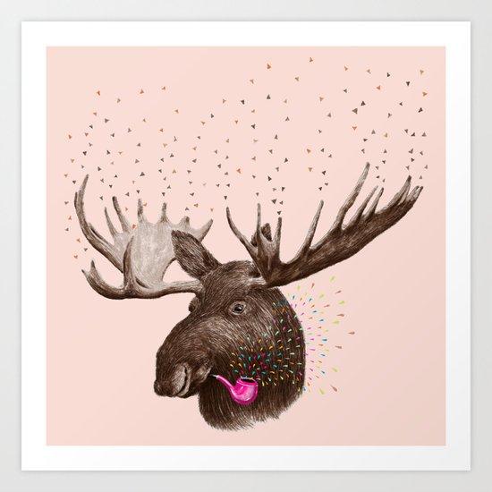 Moose III Art Print