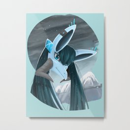 Glacia the Mythical Creature(ice) Metal Print