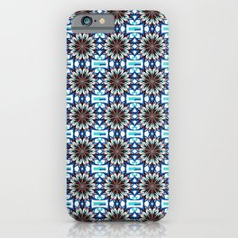 Iznik Style Red Turkish Tulips Repeat Tile Pattern iPhone Case