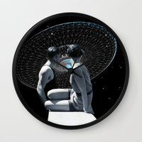 discount Wall Clocks featuring Check it out by TRASH RIOT