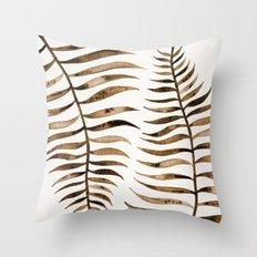 Palm Leaf – Sepia Throw Pillow
