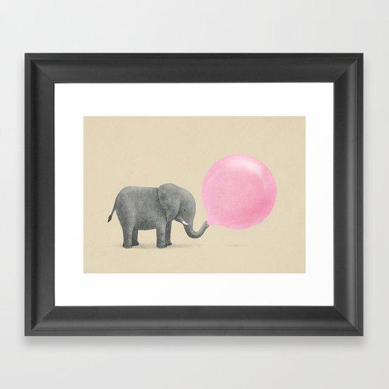 Jumbo Bubble Gum Framed Art Print