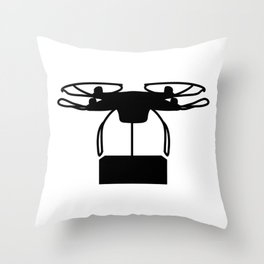 Drone Delivery Throw Pillow