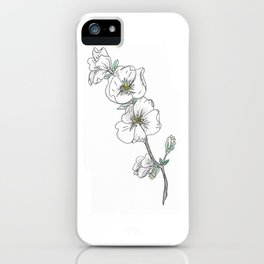 simple white flower iPhone Case