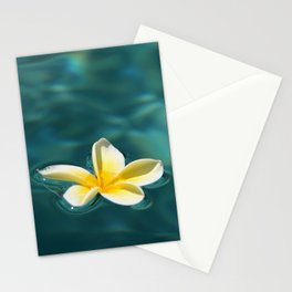 TRANQUIL WATER FRANGIPANI FLOWER Stationery Cards