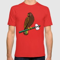 Blackhawk II Mens Fitted Tee Red LARGE