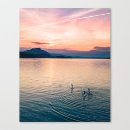 SUP Sunset Canvas Print