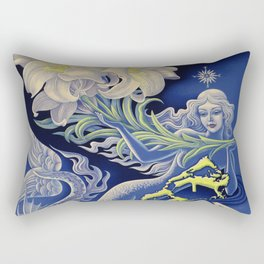 Vintage Mermaid Bermuda Rectangular Pillow