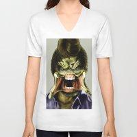 chuck V-neck T-shirts featuring Chuck Predator  by Jack
