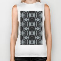 gray pattern Biker Tanks featuring Black And Gray Pattern by Need-A-Photo?