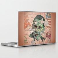obama Laptop & iPad Skins featuring Obama Wall by Moshik Gulst