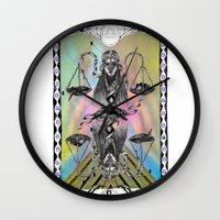 libra Wall Clocks featuring LIBRA by Caroline Vitelli GOODIES