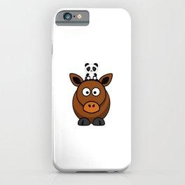 Reihe Panda reitet: Pferd -  der Panda trifft seine Freunde iPhone Case