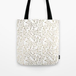 Modern chic faux gold abstract diamond shapes pattern Tote Bag