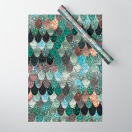 SUMMER MERMAID SEAWEED MIX by Monika Strigel Wrapping Paper
