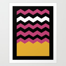 Geometric Chevron Colors Art Print
