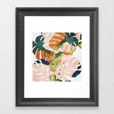 Monstera delight Framed Art Print
