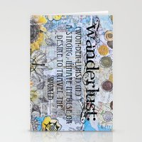 wanderlust Stationery Cards featuring Wanderlust by Jenndalyn