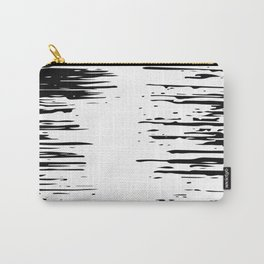 Splash Black and White Carry-All Pouch