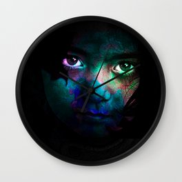 Colorful portrait Wall Clock
