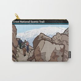Vintage Poster - Pacific Crest National Historic Trail (2018) Carry-All Pouch