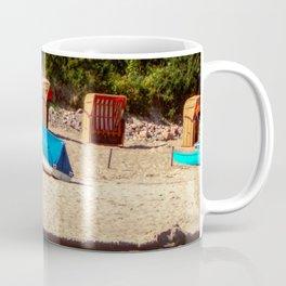 Boat at the beach of the baltic sea Coffee Mug