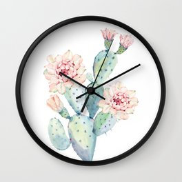 The Prettiest Cactus Wall Clock
