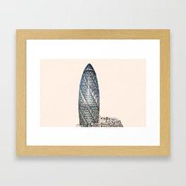 ArtWork Swiss Re 2 London UK Painting Framed Art Print