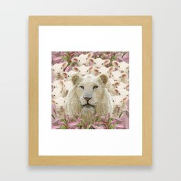 Lambs led by a lion Framed Art Print
