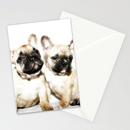 French Bulldogs Stationery Cards