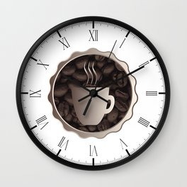 Roasted Coffee Cup Sign Wall Clock