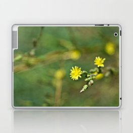 Golden flowers by the lake 1 Laptop & iPad Skin