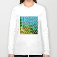 moroccan Long Sleeve T-shirts featuring Moroccan Green by Mr and Mrs Quirynen