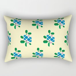Fruit: Blueberry Rectangular Pillow